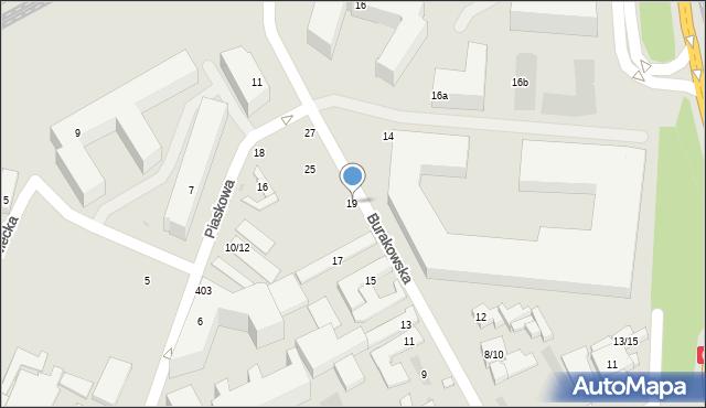 Warszawa, Burakowska, 19, mapa Warszawy