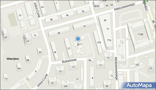 Warszawa, Bukietowa, 10, mapa Warszawy