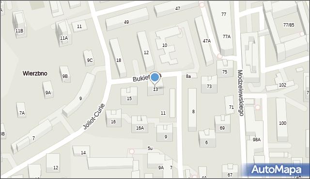 Warszawa, Bukietowa, 13, mapa Warszawy