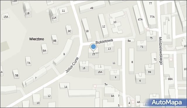 Warszawa, Bukietowa, 15, mapa Warszawy