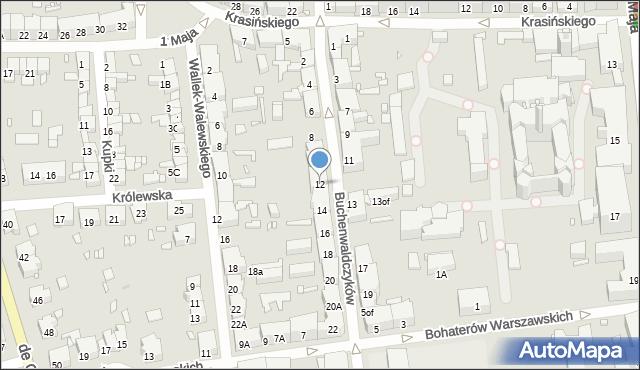 Zabrze, Buchenwaldczyków, 12, mapa Zabrza