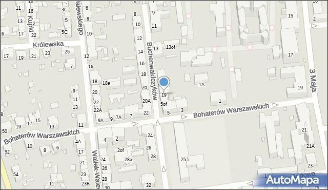 Zabrze, Buchenwaldczyków, 19, mapa Zabrza
