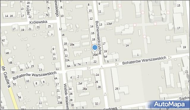 Zabrze, Buchenwaldczyków, 20A, mapa Zabrza