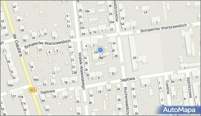 Zabrze, Buchenwaldczyków, 28a, mapa Zabrza