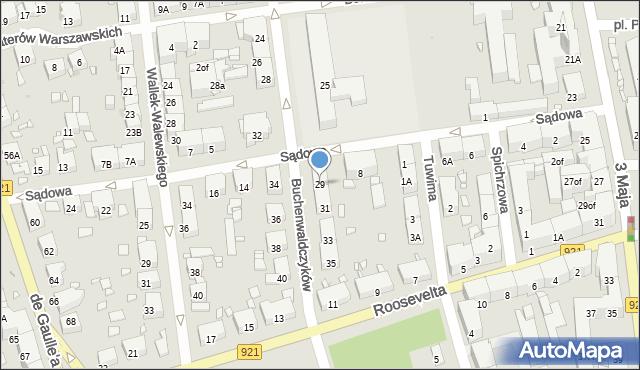 Zabrze, Buchenwaldczyków, 29, mapa Zabrza