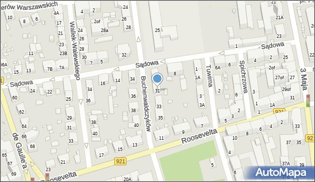 Zabrze, Buchenwaldczyków, 31, mapa Zabrza