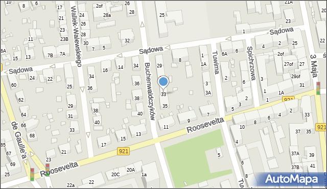 Zabrze, Buchenwaldczyków, 33, mapa Zabrza