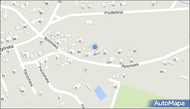 Bytom, Bytomska, 14, mapa Bytomia