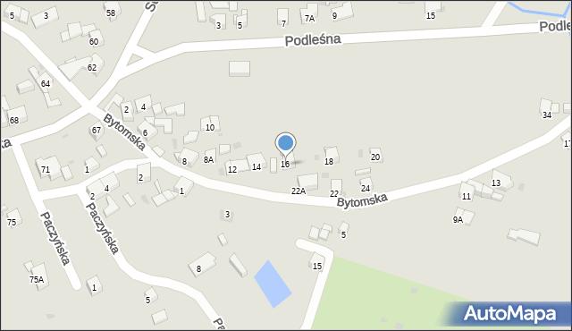 Bytom, Bytomska, 16, mapa Bytomia
