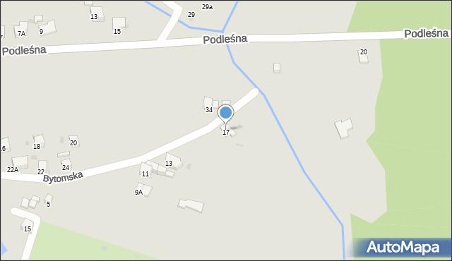 Bytom, Bytomska, 17, mapa Bytomia