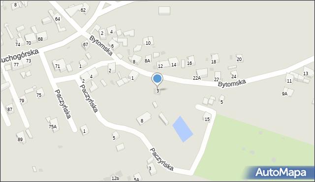 Bytom, Bytomska, 3, mapa Bytomia