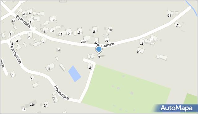 Bytom, Bytomska, 5, mapa Bytomia
