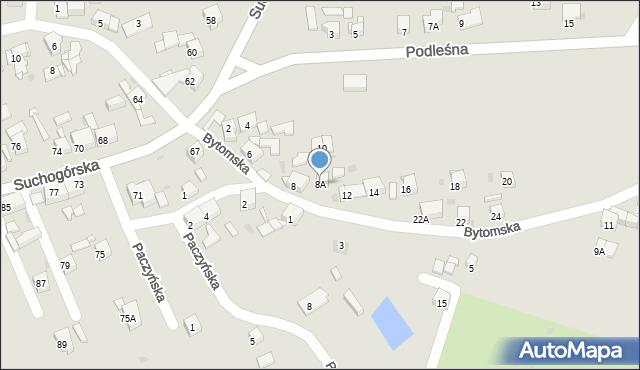 Bytom, Bytomska, 8A, mapa Bytomia