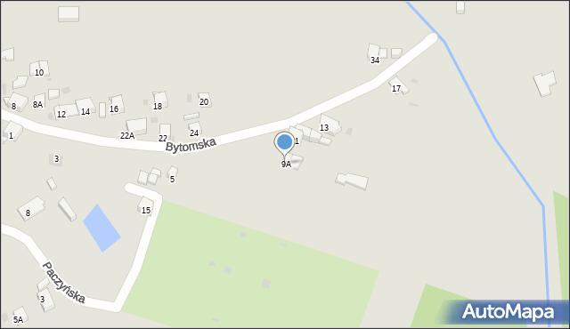 Bytom, Bytomska, 9A, mapa Bytomia