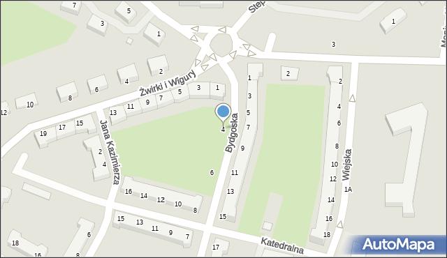 Chełm, Bydgoska, 4, mapa Chełma