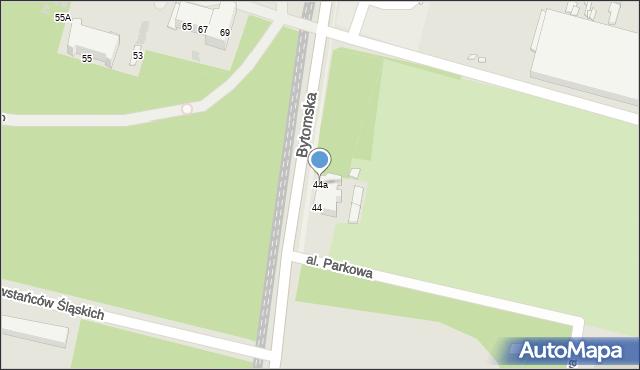 Chorzów, Bytomska, 44a, mapa Chorzów