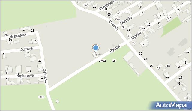 Częstochowa, Bystra, 16, mapa Częstochowy