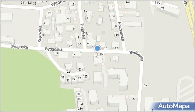 Gdynia, Bydgoska, 15a, mapa Gdyni