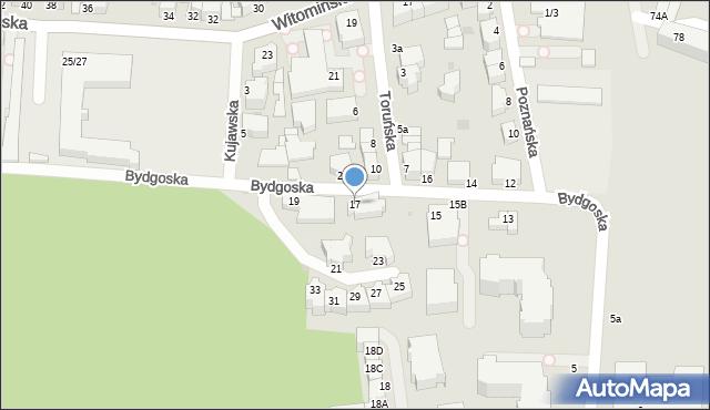 Gdynia, Bydgoska, 17, mapa Gdyni