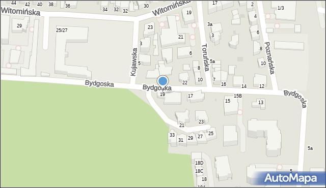 Gdynia, Bydgoska, 19, mapa Gdyni