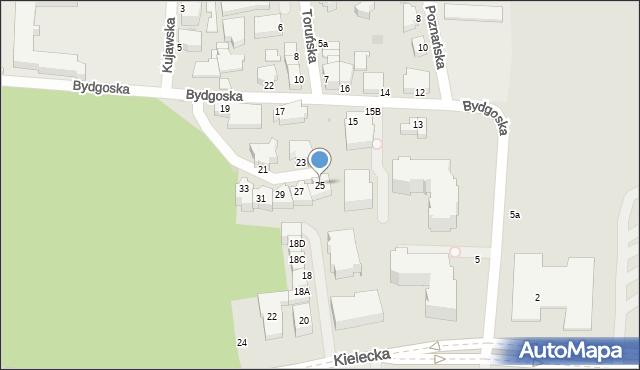 Gdynia, Bydgoska, 25, mapa Gdyni