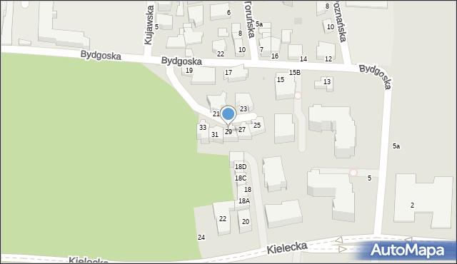 Gdynia, Bydgoska, 29, mapa Gdyni