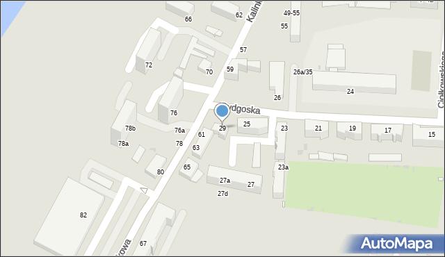 Grudziądz, Bydgoska, 29, mapa Grudziądza