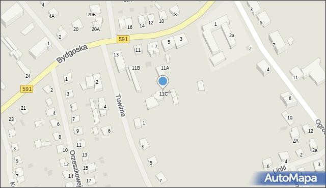Kętrzyn, Bydgoska, 11C, mapa Kętrzyn