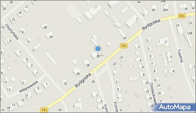 Kętrzyn, Bydgoska, 26, mapa Kętrzyn