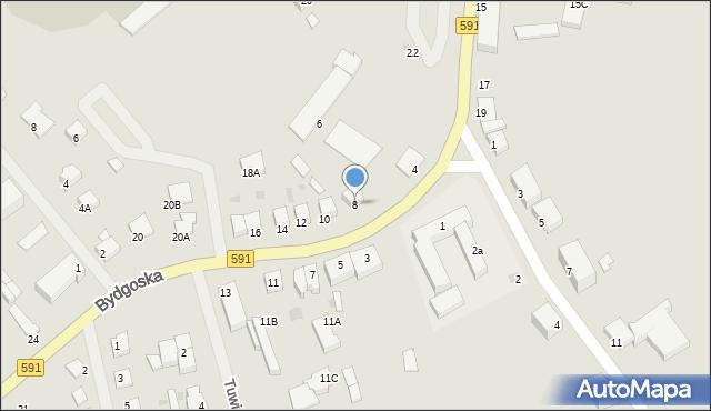 Kętrzyn, Bydgoska, 8, mapa Kętrzyn
