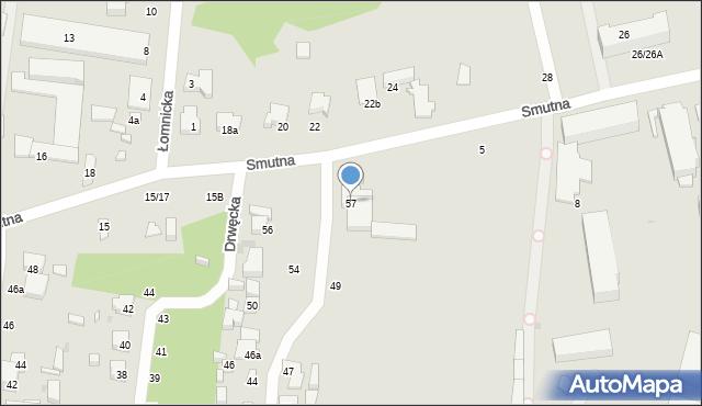 Łódź, Bystrzycka, 57, mapa Łodzi