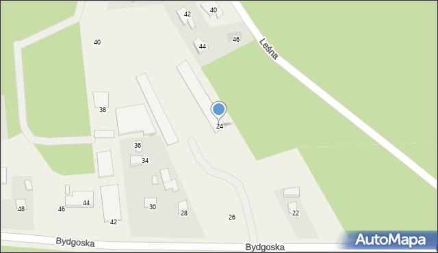Mała Nieszawka, Bydgoska, 24, mapa Mała Nieszawka
