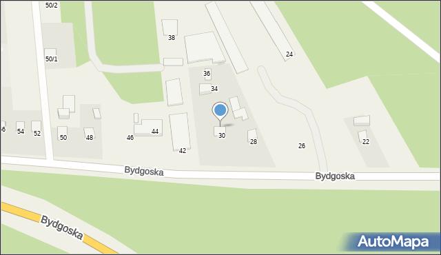 Mała Nieszawka, Bydgoska, 32, mapa Mała Nieszawka