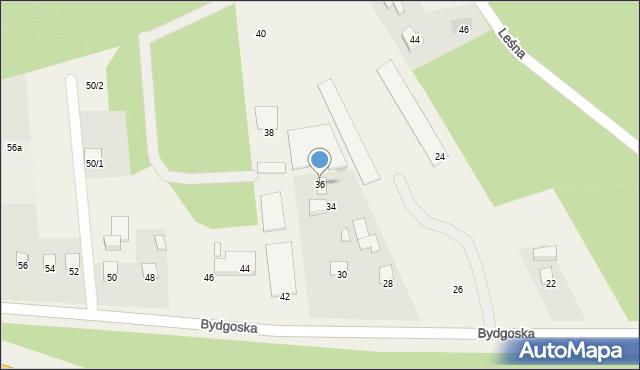 Mała Nieszawka, Bydgoska, 36, mapa Mała Nieszawka