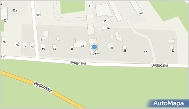 Mała Nieszawka, Bydgoska, 42, mapa Mała Nieszawka