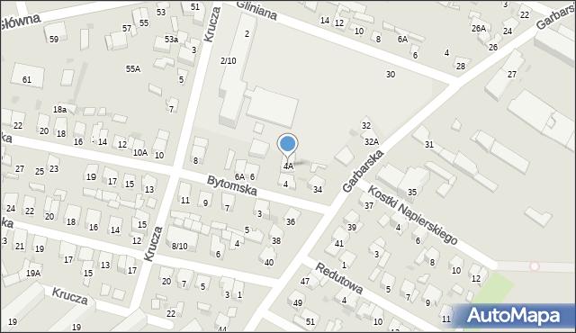 Radom, Bytomska, 4A, mapa Radomia