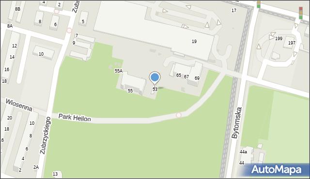 Świętochłowice, Bytomska, 53, mapa Świętochłowice