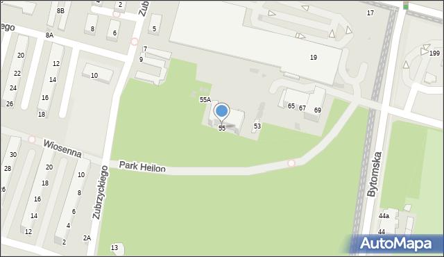 Świętochłowice, Bytomska, 55, mapa Świętochłowice