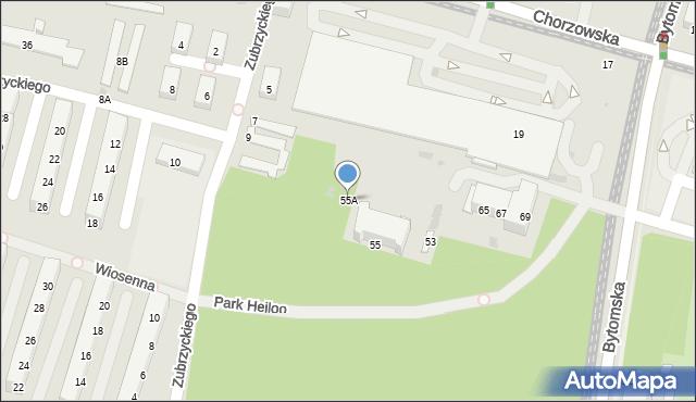 Świętochłowice, Bytomska, 55A, mapa Świętochłowice