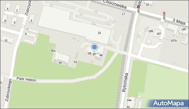 Świętochłowice, Bytomska, 67, mapa Świętochłowice
