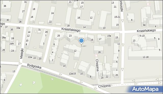 Toruń, Bydgoska, 12a/14, mapa Torunia