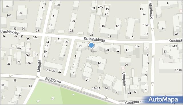 Toruń, Bydgoska, 12b, mapa Torunia