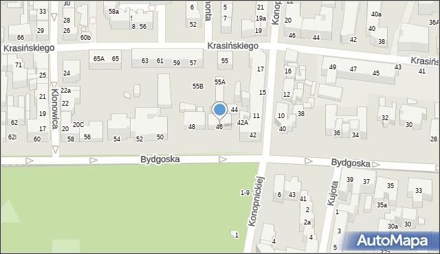 Toruń, Bydgoska, 46, mapa Torunia
