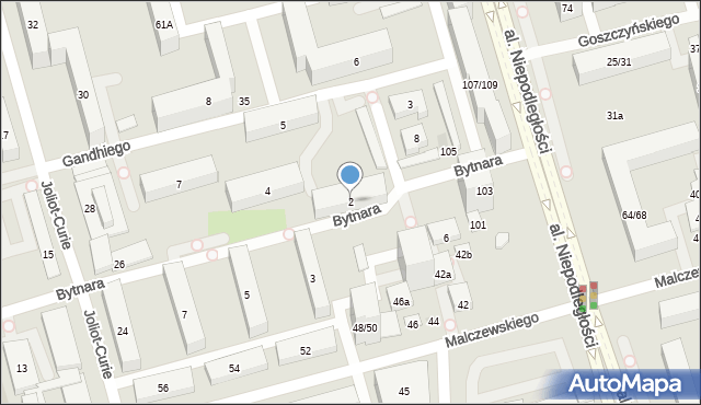 Warszawa, Bytnara Rudego Jana, 2, mapa Warszawy