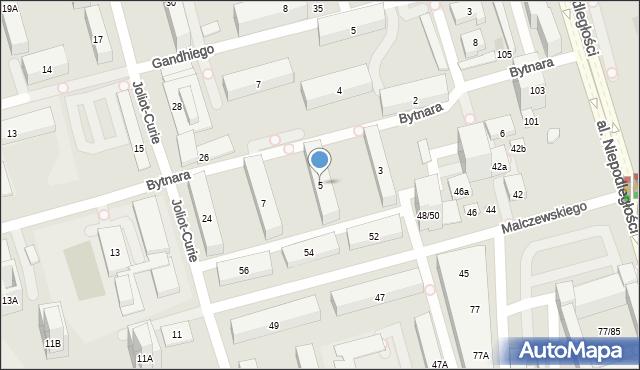 Warszawa, Bytnara Rudego Jana, 5, mapa Warszawy