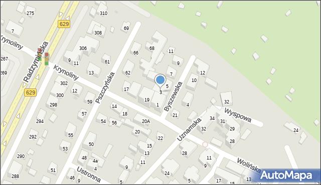 Warszawa, Byszewska, 3, mapa Warszawy