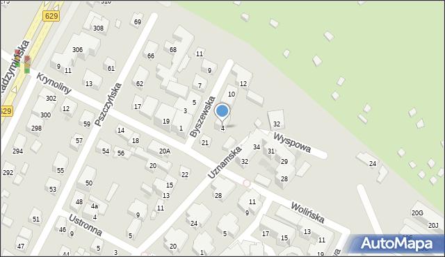 Warszawa, Byszewska, 4, mapa Warszawy