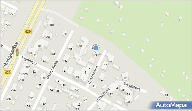 Warszawa, Byszewska, 9, mapa Warszawy