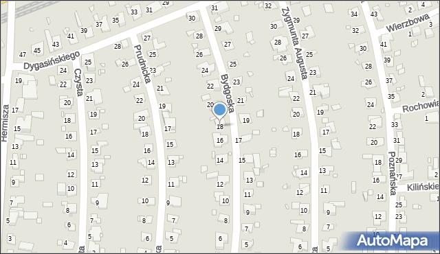 Zabrze, Bydgoska, 18, mapa Zabrza