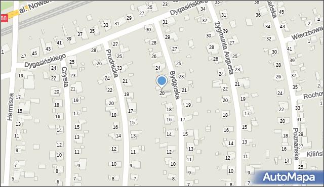 Zabrze, Bydgoska, 20, mapa Zabrza